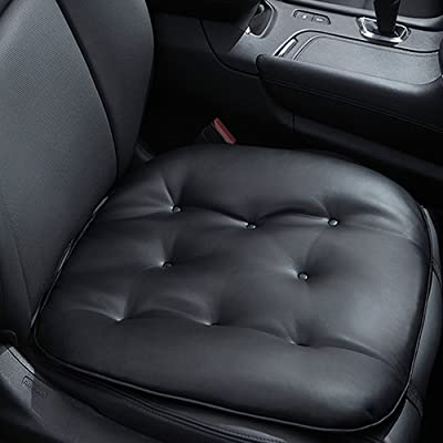 Big Ant Car Seat Pad Leather Seat Pad Soft Car Seat Cushion Comfort Removable Seat Protector for Car Office Home Use Four Seasons General 1pc(Black): Automotive