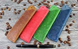 LXFF Genuine Leather Double Pen Sleeve Case