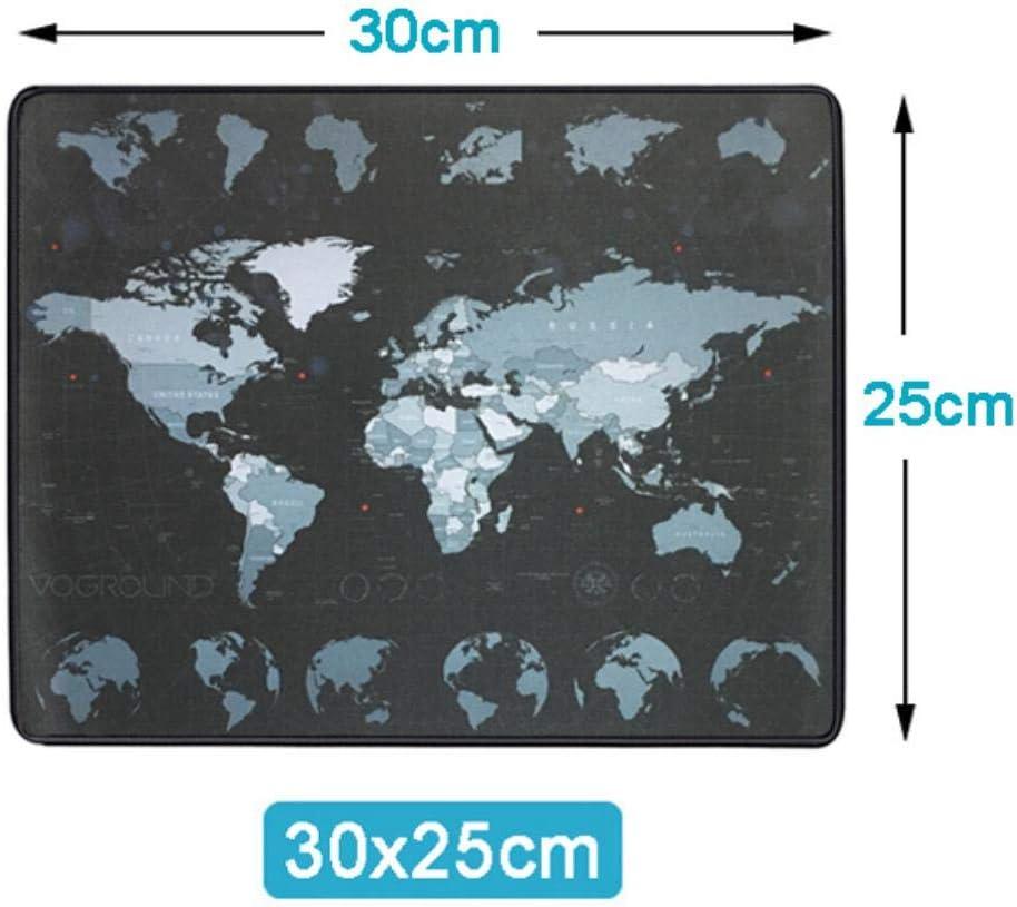 LASISZ Tapis de Souris Extra Large Carte du Monde Tapis de Souris de jeu en Caoutchouc Anti-d/érapant en Caoutchouc Naturel avec Tapis de Souris pour Grande Souris Gamer Edge 700 x 300 mm