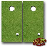 CL0067 On The Green Golf Wrap CORNHOLE LAMINATED DECAL WRAP SET Decals Board Boards Vinyl Sticker Stickers Bean Bag Game Wraps Vinyl Graphic Image Corn Hole Funny Parody