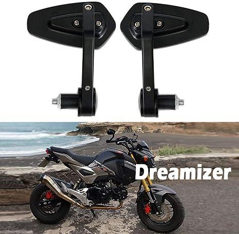 Dreamizer 7//8 22mm Motorrad Lenkerend Spiegel Motorrad-R/ückspiegel f/ür CB1000R Grom MSX125 CB500F Z1000 Z650 Z750 Z800 ER6N ER6F MT03 MT07 MT09 MT10 FZ6 FZ07 FZ09 FZ10 GSF1250 GSF600