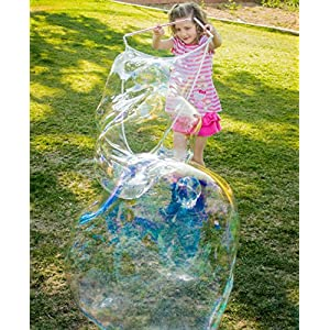 4 BUBBLE WANDS FOR MAKING GIANT BUBBLES. Kids love big bubbles. Fun for everyone. Bubble solution sold separately.