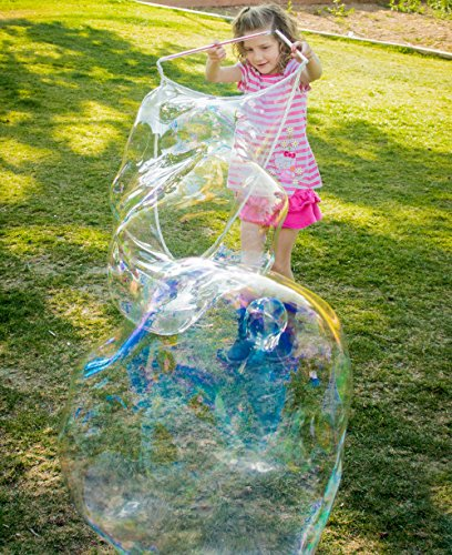4 Bubble Wands for Making Big Bubbles for Kids. Great Party Favors. Each Wand is A Giant Bubble Maker. Awesome Backyard Bubble Blower Toys. Bubble Liquid Not Included. ()