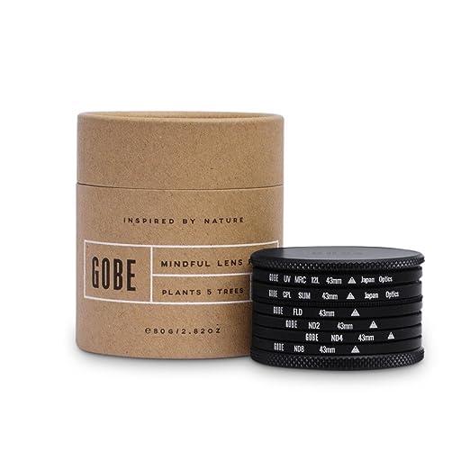 20 opinioni per Gobe- Kit filtro 43mm: UV, CPL Polarizzatore, FLD, ND2, ND4, ND8