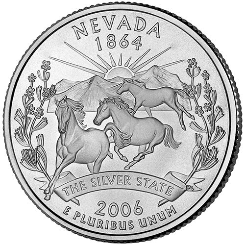 2006 S Clad Proof Nevada State Quarter Choice Uncirculated US Mint ()