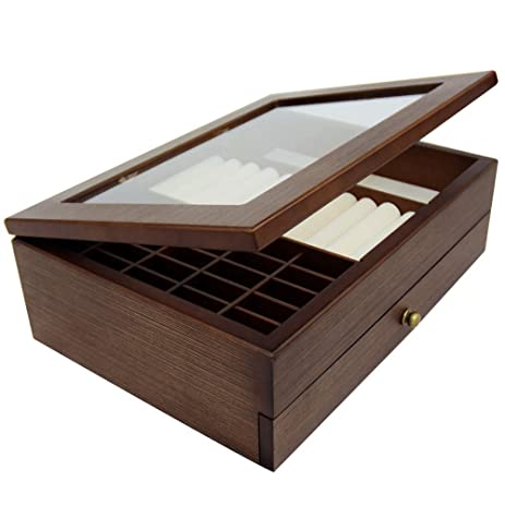 Amazoncom Ikee Design Large Premium Wooden Jewelry Box Organizer
