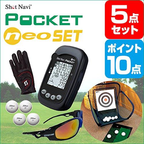 二次会 景品 ShotNavi PocketNEO ポイント10倍 ゴルフ景品5点 景品 目録 A3パネル付   B076CJT4QL