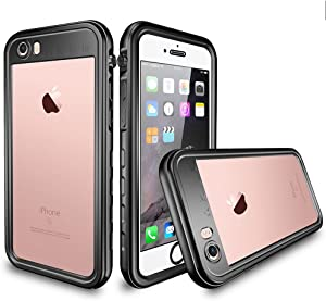 Co-Goldguard iPhone 6s Plus Waterproof Case iPhone 6 Plus Waterproof Case IP 68 Underwater Cover Outdoor Shockproof Snowproof Dirtproof 360 Full Protection Shell for iPhone 6+/6s+,Black+Clear