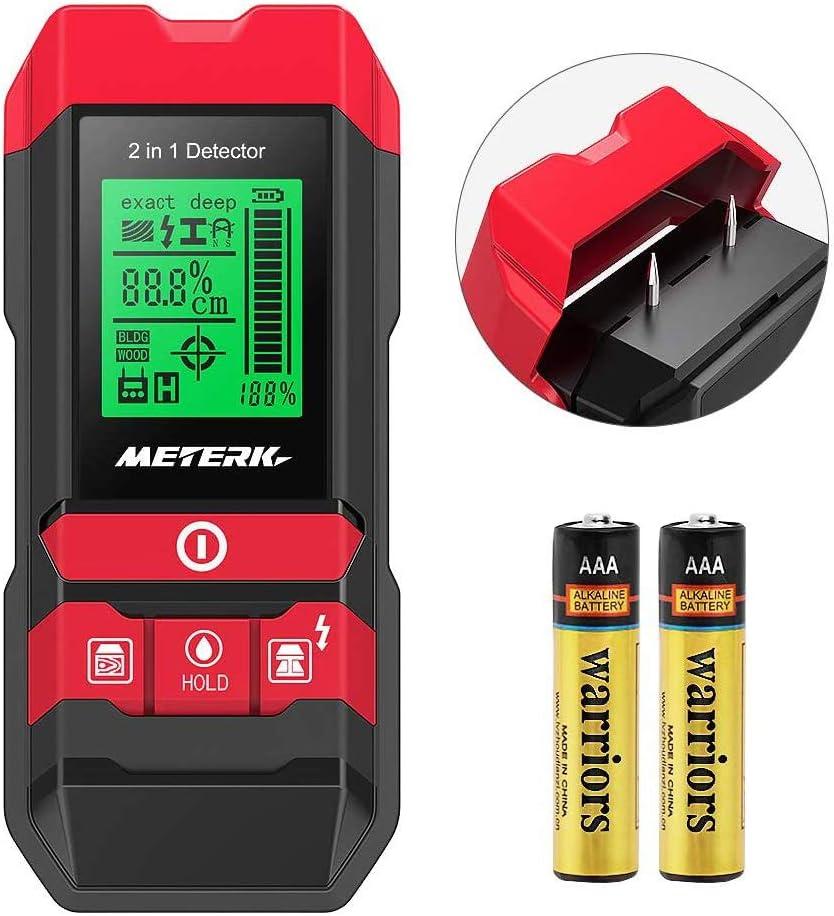 Detector de construcción digital Detector Meterk 2 en 1 Pernos de ...