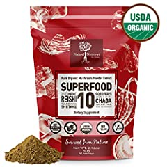 Would you like HIGHER Immune support? Want a Mushroom supplement from nature with no fillers, additives or derived with alcohol?Looking for easy to take Mushroom Powder? Then Naked Nutrient Superfood 10 Mushroom Powder Extract Blend is for you. Our p...