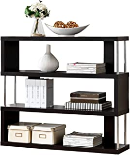 Baxton Studio Barnes 3 Shelf Modern Bookcase Dark Brown