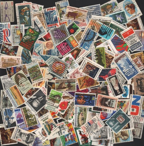Vintage Postage Stamps (VINTAGE STAMP COLLECTING!!  100 OFF PAPER ~ ALL VINTAGE COMMEMORATIVES!! U.S. POSTAGE STAMPS ~ 100 stamps (with a few extra) ready to add to your collection)