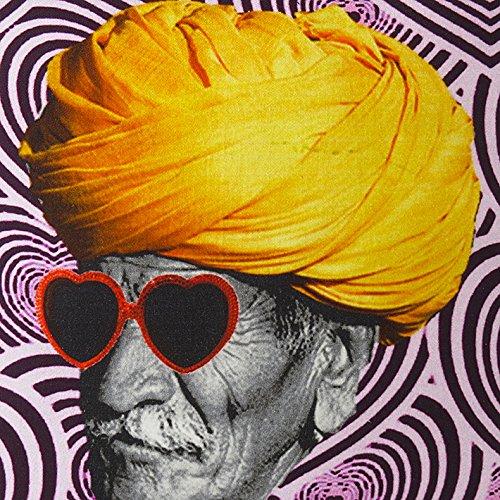 EYES OF INDIA - 18'' Colorful Turban Decorative Sofa Throw Pillow Cushion Cover Boho Indian Bohem