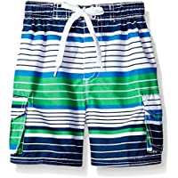 Kanu Surf Boys' Blake Stripe Quick Dry Beach Board Shorts Swim Trunk