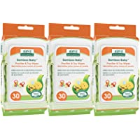 Aleva Naturals Bamboo Baby Pacifier and Toy Wipes | Natural and Organic Ingredients with Lemon Oil | Safely Cleans…