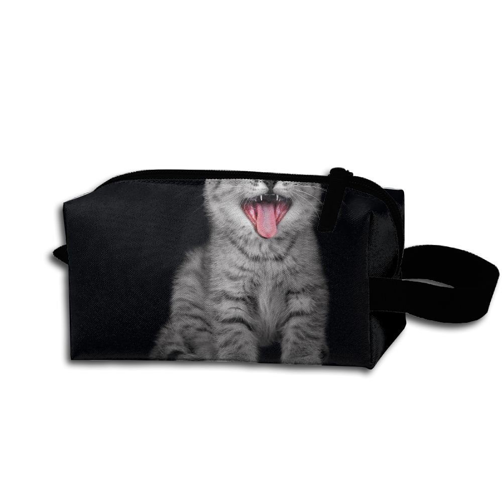 Makeup Cosmetic Bag Animals Kittens Zip Travel Portable Storage Pouch For Men Women