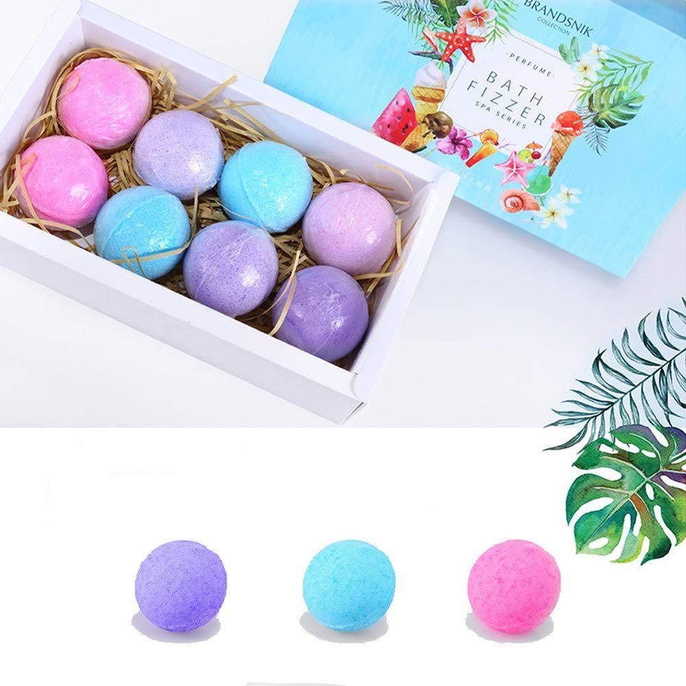 8pcs/set Bath Salt Ball Essential Oil Bath Bomb Body Massage Skin Care Cleaner Whitening Fragrant Christmas Gift Set hebensi
