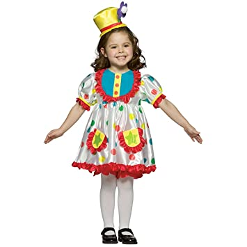 clown girl toddler costume small - Girl Clown Halloween Costumes