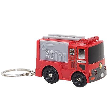 Amazon.com: Lovely Fire Engine LED Sonido Llavero Llavero ...