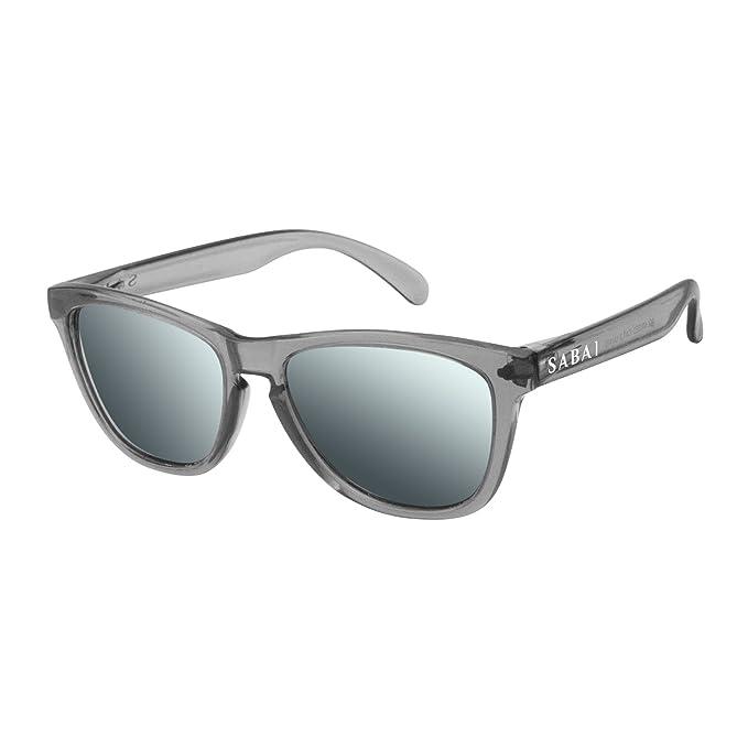 SABAI Eternal - Gafas de Sol Polarizadas Marco Gris Lente Plata