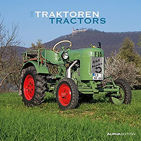 "'Calendrier mural""tracteurs 2018 30 x 30 cm"