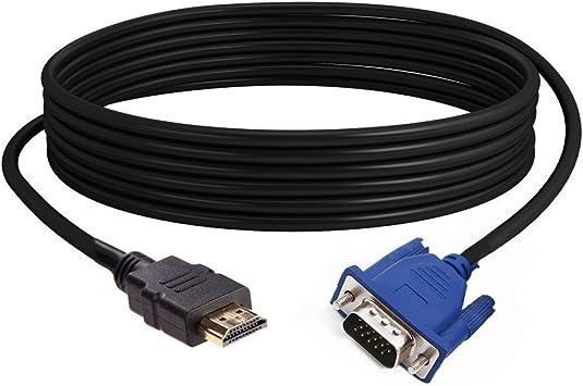 Yivise Cable HDMI a VGA 1080P HD con Cable Adaptador de Audio ...