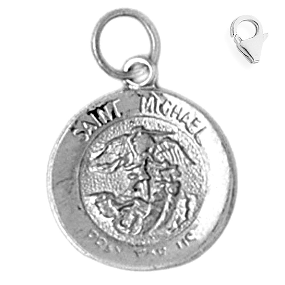 Michael Pendant Michael with 7.5 Charm Bracelet Sterling Silver 20mm St Jewels Obsession St