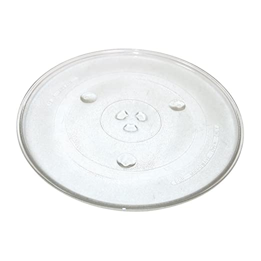 Findaspare - Plato de cristal giratorio universal para microondas de 270 mm con 6 fijadores