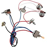 Kmise Electric Guitar Wiring Harness Kit 2V2T Pot Jack 3 Way Switch for Gibson Les Paul