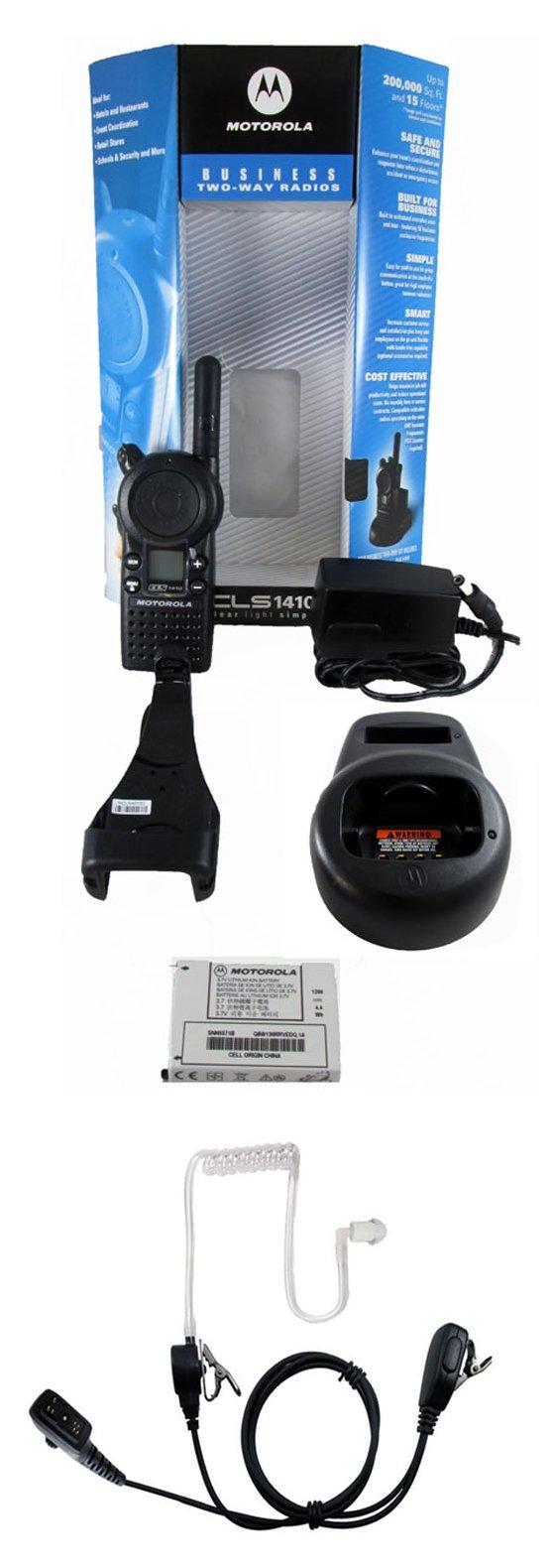 Motorola CLS1410 1 watt 4 channel business radio and Surveillance Headset