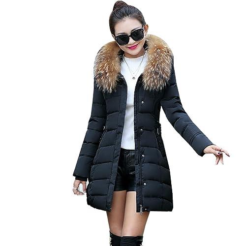 WTUS Abrigo con capucha de invierno para mujer