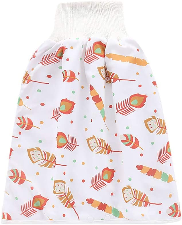 Baby Childrens Comfy Reusable Diaper Skirt Shorts 2 in 1 Waterproof and Absorbent Cotton Diaper Cover Skirt
