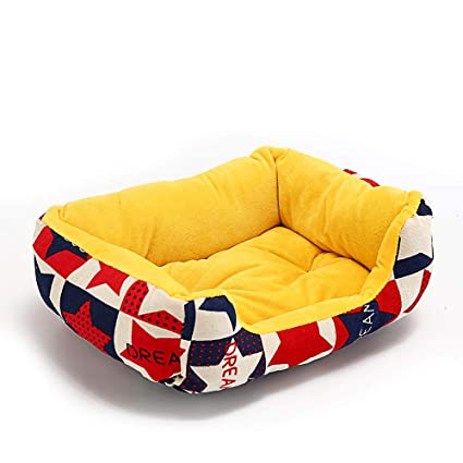 Amazon.com : Cookisn Cotton Dog Bed Soft House for Dog Mats ...