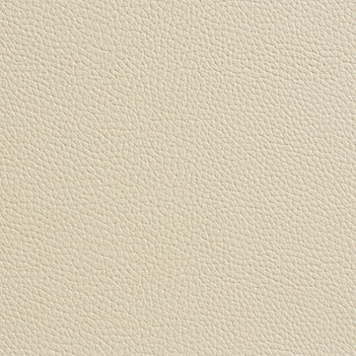 G648 Cream Off White Bison Pronounced Leather Grain Upholstery Grade Recycled Leather (Bonded Leather) by The Yard