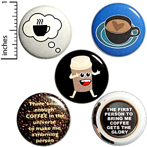 Amazon com: Funny Coffee Lovers 5 Pack Buttons for Backpacks