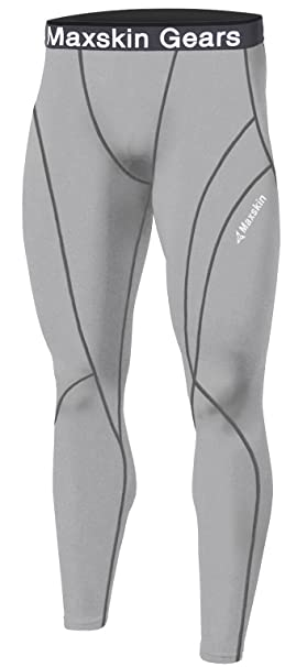 8b2944c519b6c7 JustOneStyle New Men Skin Tights Compression Base Under Layer Sports Running  Long Pants (L,
