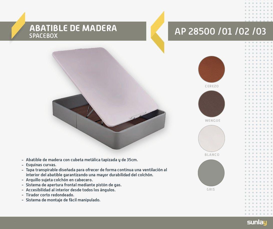 Sunlay Canapé Abatible tapizado Modelo: Spacebox Gris 150x190 cm: Amazon.es: Hogar