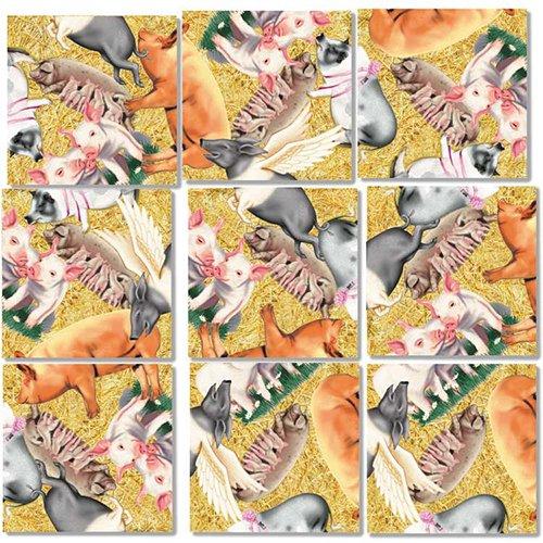- B Dazzle Pigs Scramble Squares 9 Piece Puzzle