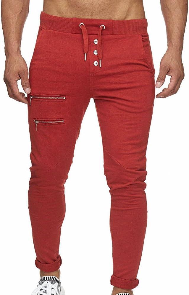 Pantalones Casuales para Hombre,Hombres Overoles Skinny Casuales ...