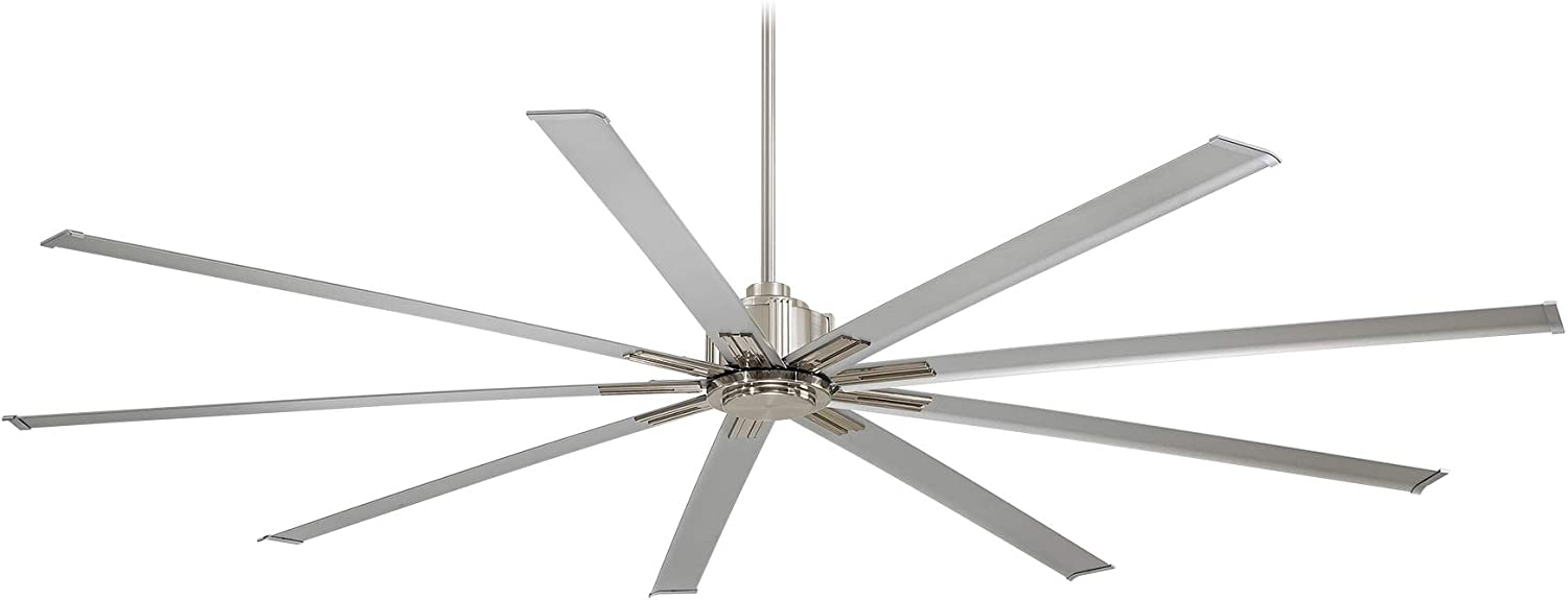 Minka-Aire F887-72-BN Xtreme 72 Inch Outdoor Ceiling Fan with DC Motor in Brushed Nickel Finish