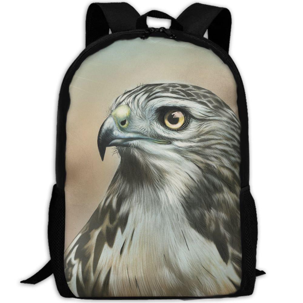 CY-STORE Birds Painting Art Hawk Animals Print Custom Casual School Bag Backpack Travel Daypack Gifts