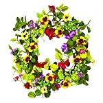 Worth-Imports-Mixed-Wreath-with-Pansy-22-Inch-Multicolor
