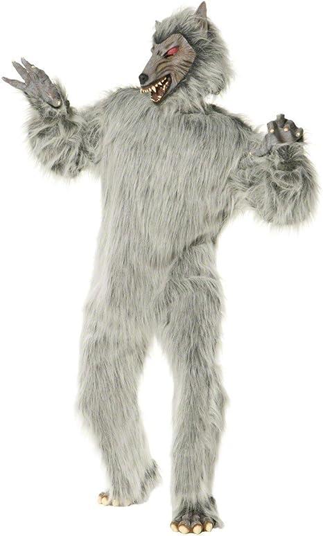 Desconocido Disfraz de hombre lobo de lujo para adulto: Amazon.es ...