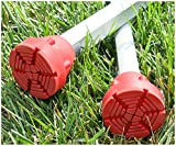 SureTip Red Crutch Tips & Cane Tip for Crutches (Pair of 2) - Extreme Grip - Heavy Duty Universal Sizing Fits Shafts of 5/8'' 3/4'' 7/8'' 1'' & More
