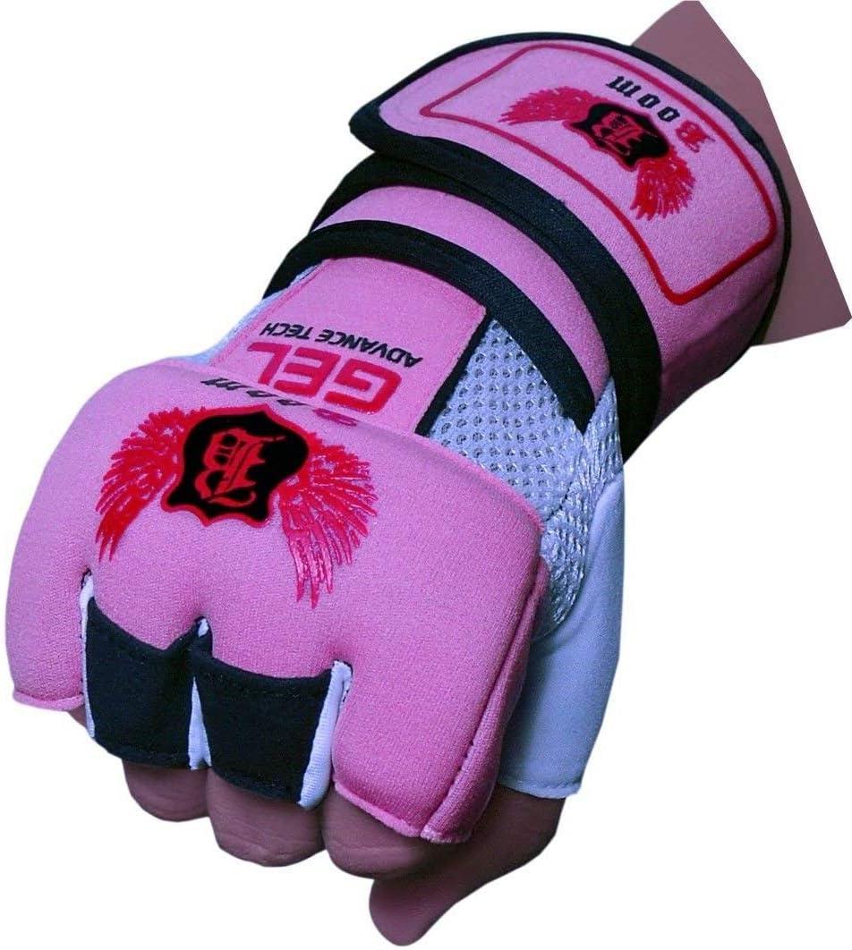 BOOM Prime Femmes N/éopr/ène Gel Gants Boxe Support de Poign/ée Sangles MMA Sac de Frappe Gants Interne