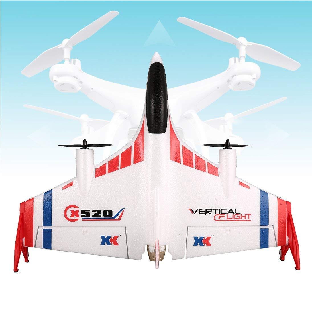 WEIHAN XK X520 6CH 3D 6G Flugzeug VTOL Vertikal Start Land Delta Wing Brushless RC Drohne Fixed Wing mit Modus Schalter 720 FPV Kamera