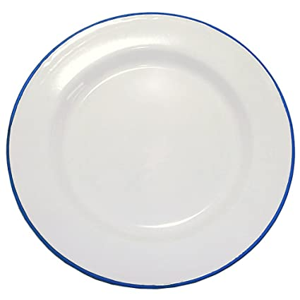 amazon com enamelware 12 inch buffet plate set of 4 solid white rh amazon com Set of 4 Dessert Plates Set of 4 Dessert Plates