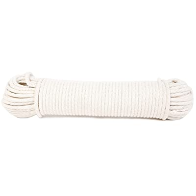Koch 5600825 Braided Cotton/Poly Sash Cord, Trade Size 8 by 100 Feet, White: Home Improvement