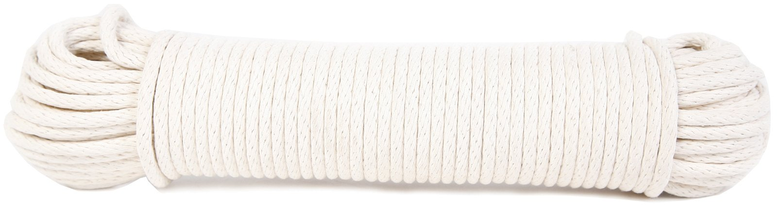 Koch 5600825 Braided Cotton/Poly Sash Cord, Trade Size 8 by 100 Feet, White