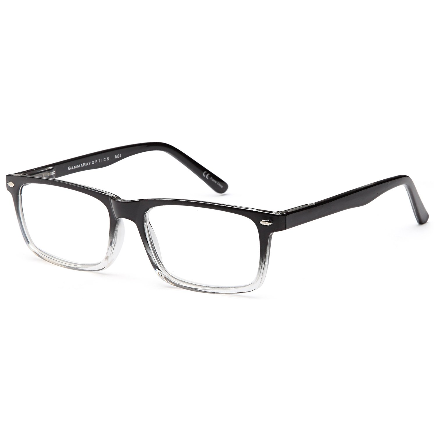 fb1c6c43a179 Amazon.com  GAMMA RAY 5 Pack Spring Hinged Reading Glasses for Men and  Women - Choose your Style   Magnification  Clothing